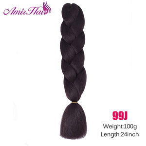 Ombre Jumbo Braid Extensions #Purple / 24inches