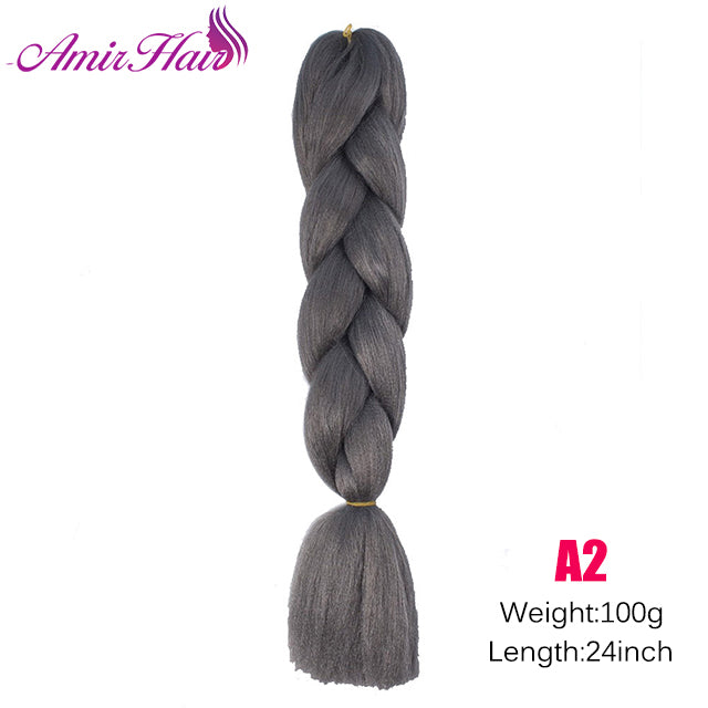 Ombre Jumbo Braid Extensions T1B/Purple / 24inches