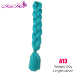 Ombre Jumbo Braid Extensions T1B/Green / 24inches