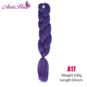 Ombre Jumbo Braid Extensions M#Blue / 24inches