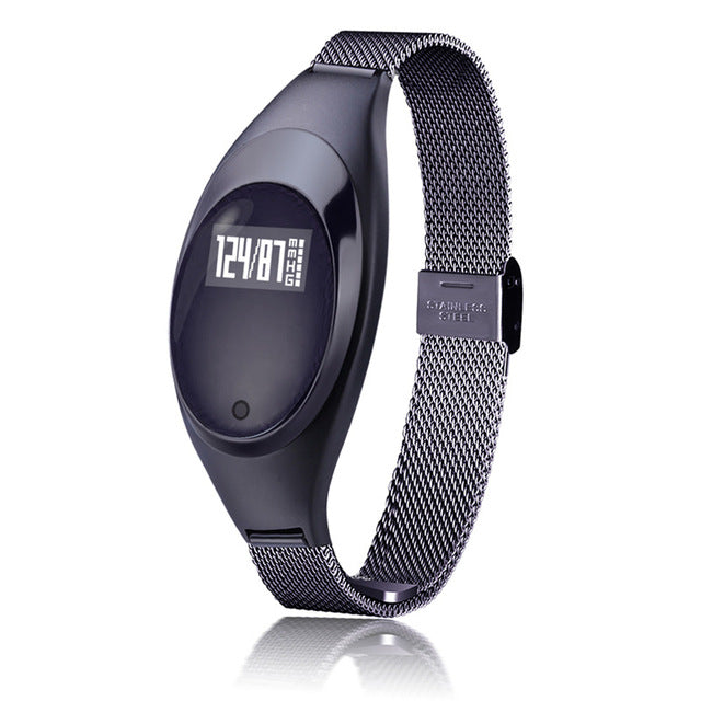 Women Fashion Smart Watch With Blood Pressure Heart Rate Monitor For Android IOS Black