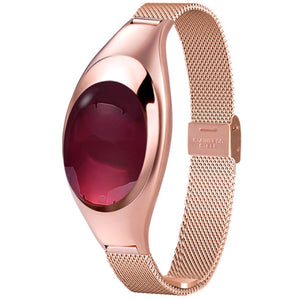 Women Fashion Smart Watch With Blood Pressure Heart Rate Monitor For Android IOS Rose gold