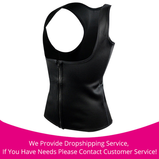 Hot Body Slimming Shaper Waist Cincher black zipper / S / China