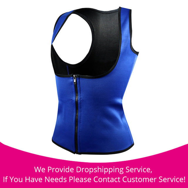 Hot Body Slimming Shaper Waist Cincher blue zipper / S / China