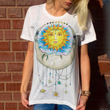 Summer Cute Donuts Print Women's T-shirt 006 / L