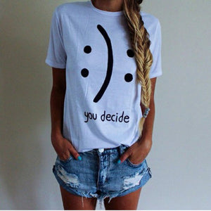 Summer Cute Donuts Print Women's T-shirt 034baise / L
