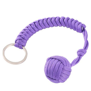 Monkey Fist Self Defense Keychain Purple