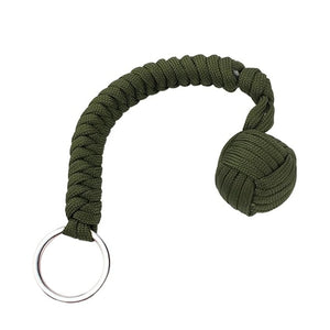Monkey Fist Self Defense Keychain Green