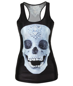 Summer Kiss Black Skull Tank Top V57 / S