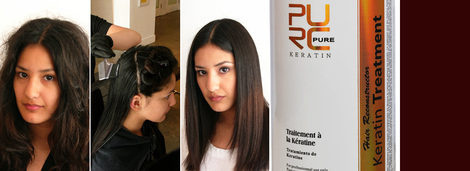 PURC Chocolate keratin 100ml set keratin hair straightening