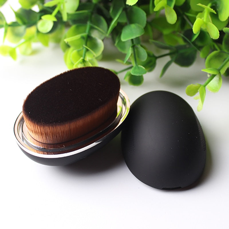 Egg makeup foundation brush