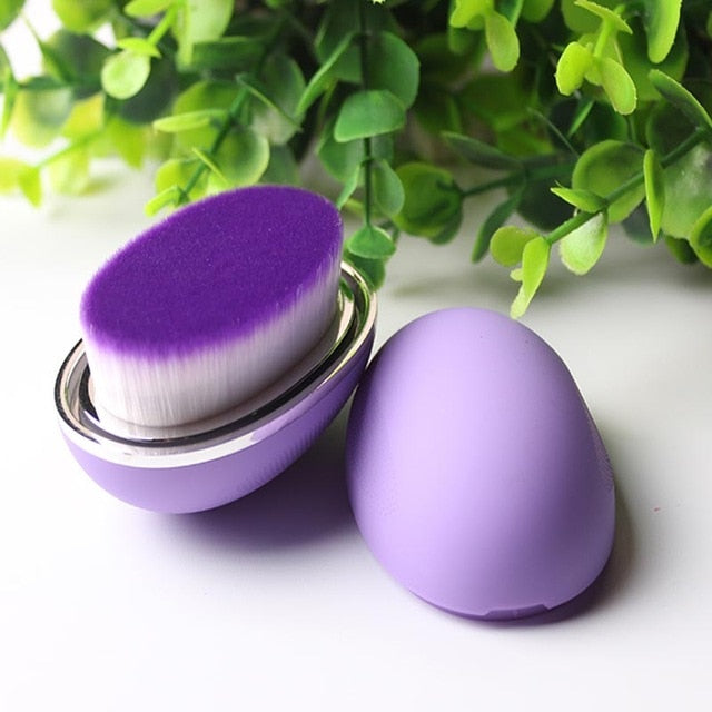 Egg makeup foundation brush Purple