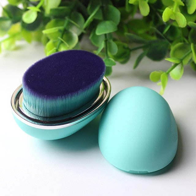 Egg makeup foundation brush Blue