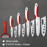 Ceramic Knife Cooking set 4 Red White Set / China