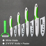 Ceramic Knife Cooking set 4 Green White Set / China