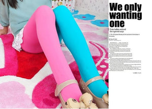 Candy Color Mixed Tights for girls 8 / One Size (3T-9T)