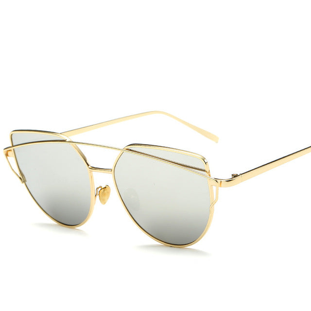 CAT'S EYE SUNGLASSES goldsliver
