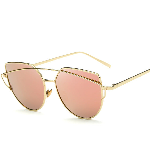 CAT'S EYE SUNGLASSES goldpink