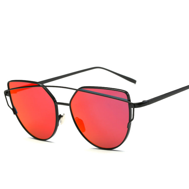 CAT'S EYE SUNGLASSES blackred