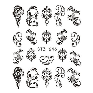 Beautiful Sticker Water Transfer Decals Nail Art STZ646