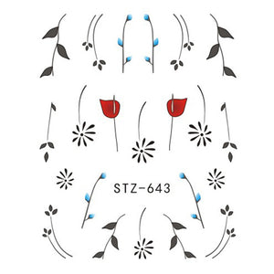 Beautiful Sticker Water Transfer Decals Nail Art STZ643