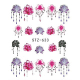 Beautiful Sticker Water Transfer Decals Nail Art STZ633