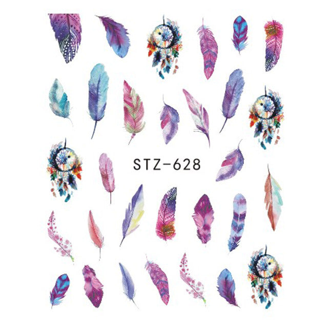 Beautiful Sticker Water Transfer Decals Nail Art STZ628
