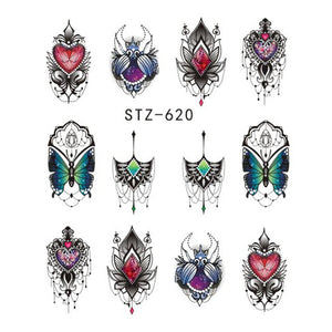 Beautiful Sticker Water Transfer Decals Nail Art STZ620