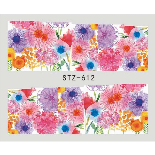 Beautiful Sticker Water Transfer Decals Nail Art STZ612