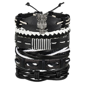 Vintage Multilayer Leather Bracelet BJDY705