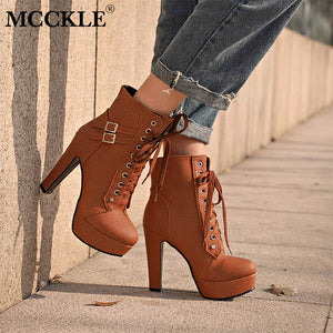 High Heel Ankle Boots For Women