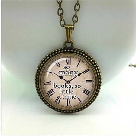 Quote necklace watch pendant 4