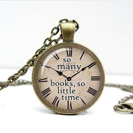 Quote necklace watch pendant 5