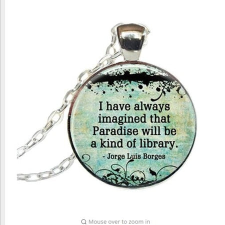 Quote necklace watch pendant 7