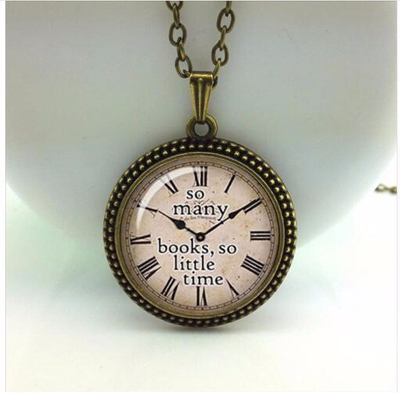 Quote necklace watch pendant