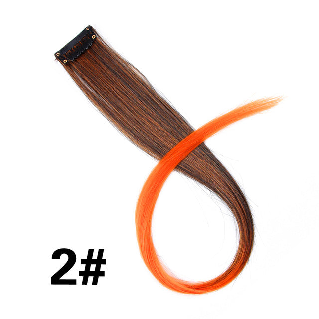 "Highlight Synthetic Hair Extensions Clip In One Piece 18"" Natural Color / 18inches"
