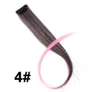 "Highlight Synthetic Hair Extensions Clip In One Piece 18"" 1B/27HL / 18inches"