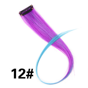 "Highlight Synthetic Hair Extensions Clip In One Piece 18"" P1B/30 / 18inches"