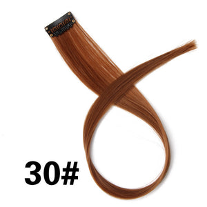 Highlight Synthetic Hair Extensions Clip In One Piece 18""