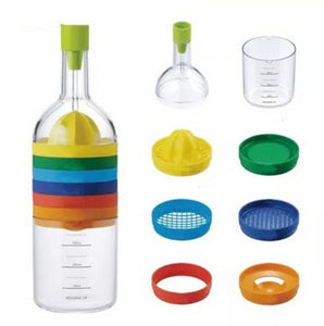 8 In 1 Bottle Shape-Professional Slicer, Grater, Grinder, Funnel, Egg Separator,Measuring Cup and MORE!!