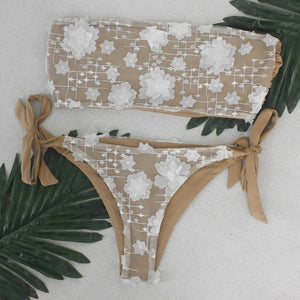Diamond Bikini wo-pieces Swimsuit Women Bikini Set 181khaki / L
