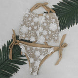 Diamond Bikini wo-pieces Swimsuit Women Bikini Set 182khaki / L