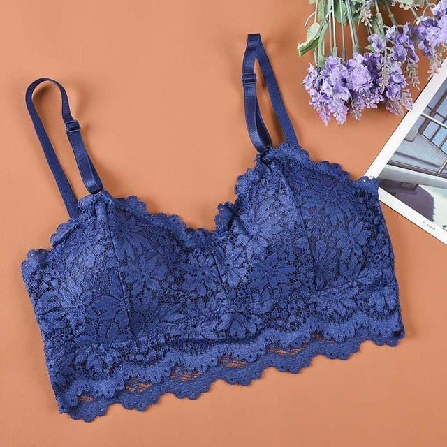 Floral lace crop top 29 / One Size