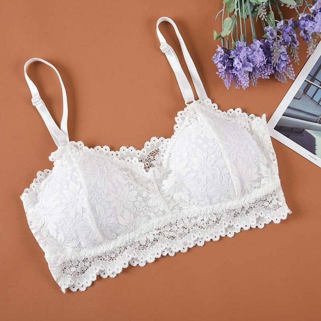 Floral lace crop top 30 / One Size
