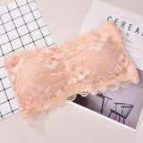 Floral lace crop top 14 / One Size
