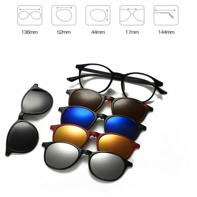 5 in 1 Magnetic Lens Swappable Sunglasses B