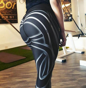 Women cartoon printed fitness leggings 3 / L