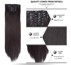 Clip In Hair Extensions Straight Synthetic