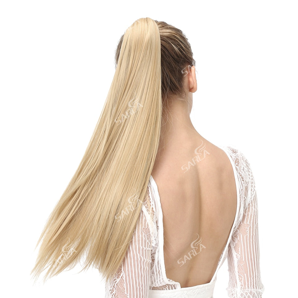 Synthetic ponytail hair extensions
