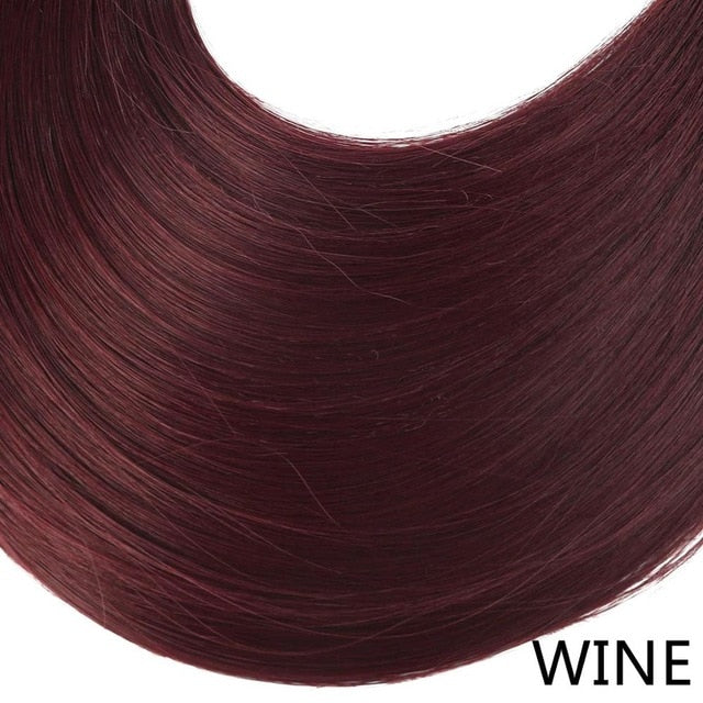 Synthetic ponytail hair extensions Wine Red / 24inches